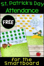 St. Patrick's Day Smartboard Attendance