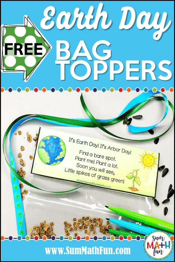 free-earth-day-arbor-day-environmental-bag-topper #earthday #arborday #environmental