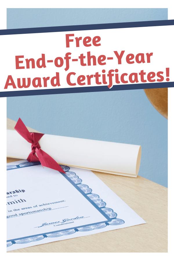 certificates end award student classroom were template printable organizedclassroom plain non awards teacher