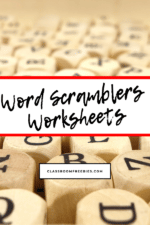 Word Scramblers Worksheets