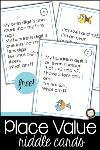Place Value Number Sense Riddle Cards