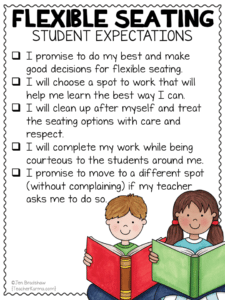 Flexible Seating Freebies: student contract, student expectations, parent letter, and tracking form. #flexibleseating #teacherkarma #classroomfreebies #freeprintables #kindergarten #1stgrade #2ndgrade #3rdgrade #4thgrade #5thgrade #classroommanagement