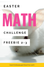 FREE Easter Math Challenges! Chocolate Bunny FUN 2-3