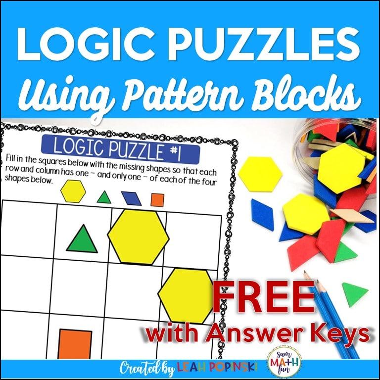logic-puzzles-pattern-blocks-problem-solving #logicpuzzles #problemsolving