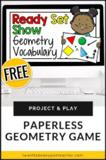 Geometry Vocabulary Review Game: Ready, Set, Show!