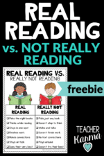 Students are FAKE Reading. What now? Use these FREEBIES.