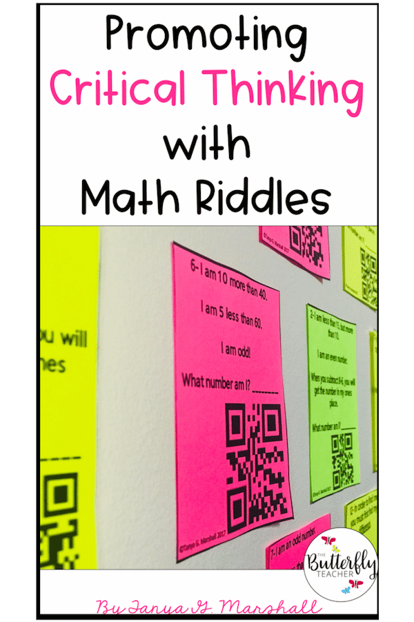 math riddles with qr codes