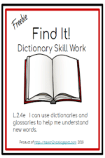 Find It!  Dictionary Skill Work
