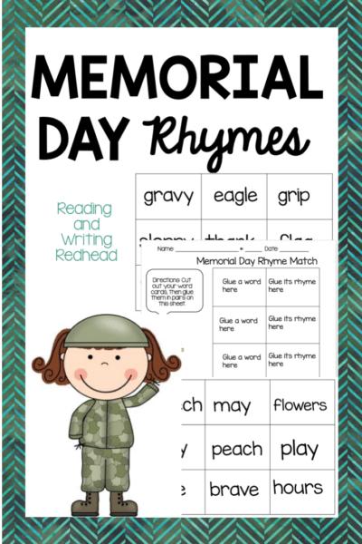 Freebie Memorial Day rhymes #cf #classroomfreebies