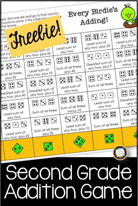 Free Second Grade Addition Game from Primary Inspiration