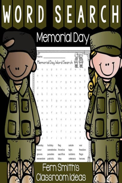 Memorial Day Wordsearch
