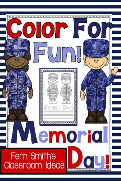 Memorial Day Coloring Pages and Thank You Stationary