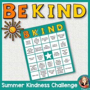 Kindness Challenge Bingo Game for Kids