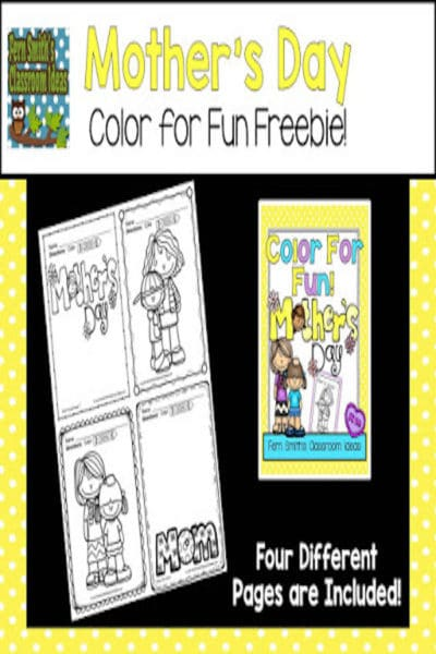 Free Mother's Day Coloring Book