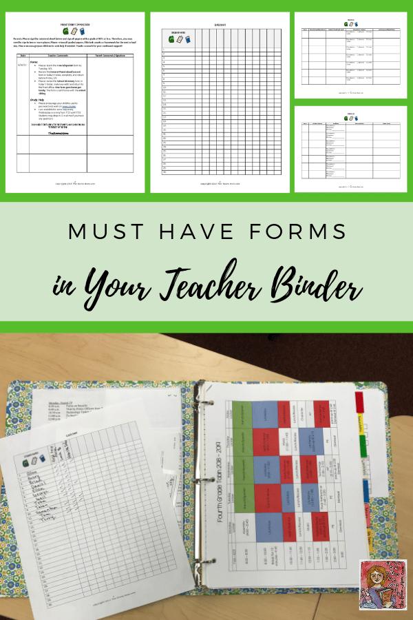 Setting up a Teacher Binder