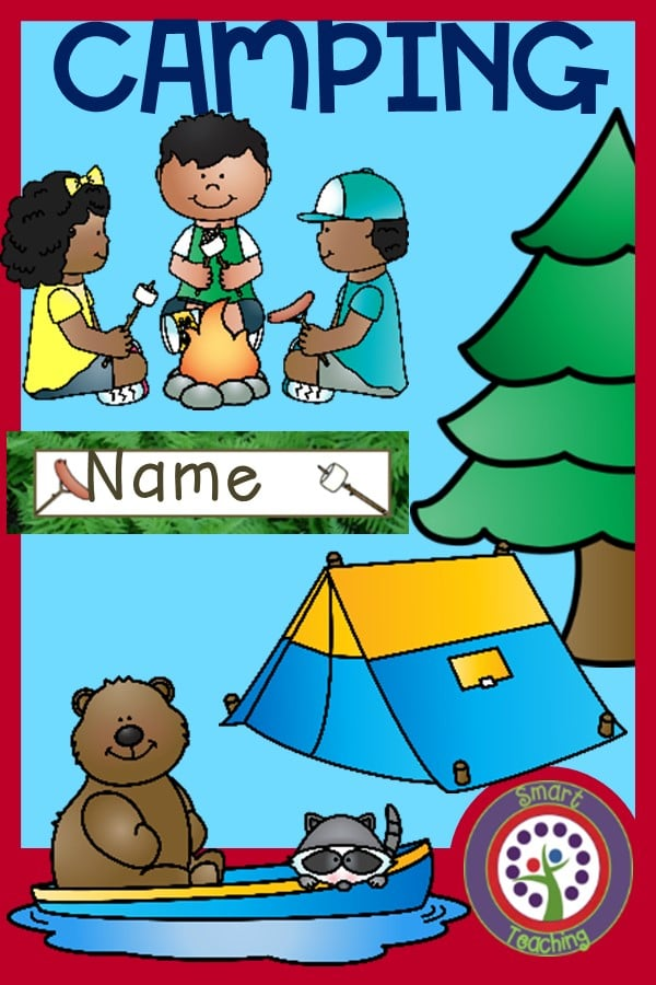 camping theme classroom decorating kit