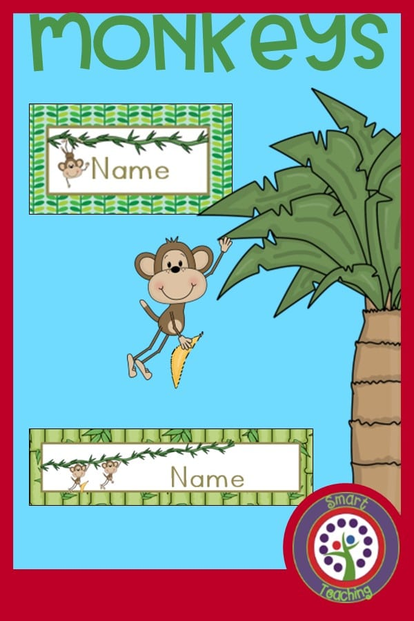 Monkey theme classroom decorating kit