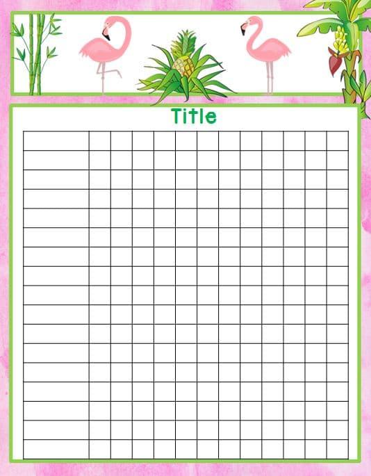 Flamingo name chart