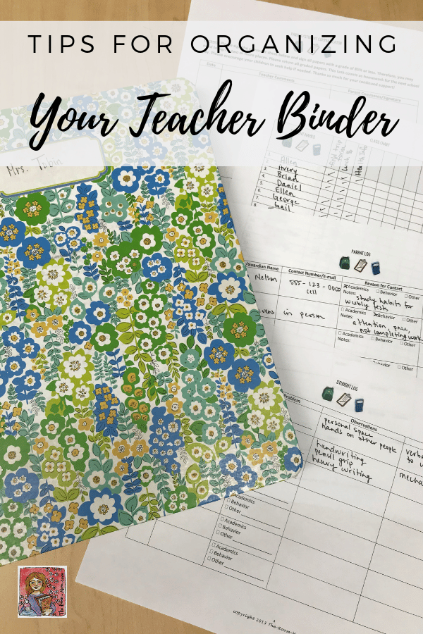 Setting up a Teacher Binder