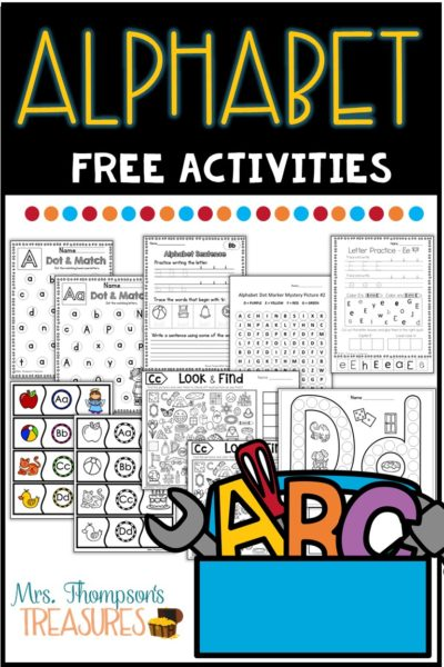 free alphabet activities for kindergarten
