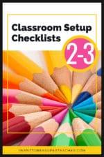 Free Classroom Setup Checklists