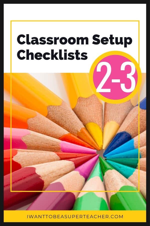 Free Classroom Setup Checklists - Classroom Freebies
