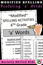 Modified Spelling Activities