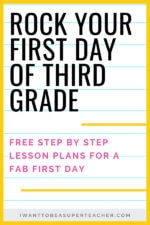 First Day of 3rd Grade Lesson Plans