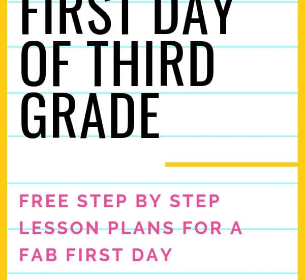 Rock Your First Day of Third Grade