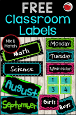 Free Labels For Your Classroom