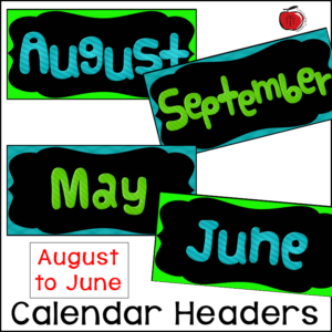 The calendar numbers can also do double duty, triple duty, and beyond. I use them to label my coat hooks, books bins, mailboxes, or anything else that needs a student number.