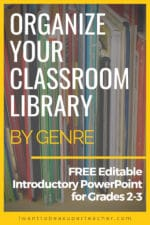 Classroom Library Organization Ideas: FREE Genre Activity for Back to School