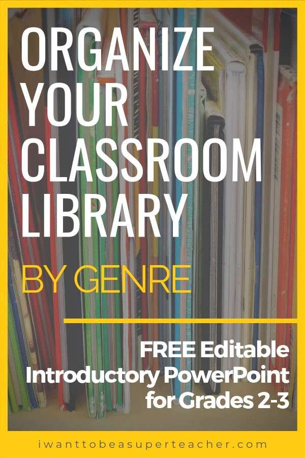 Organize Your Classroom Library by Genre