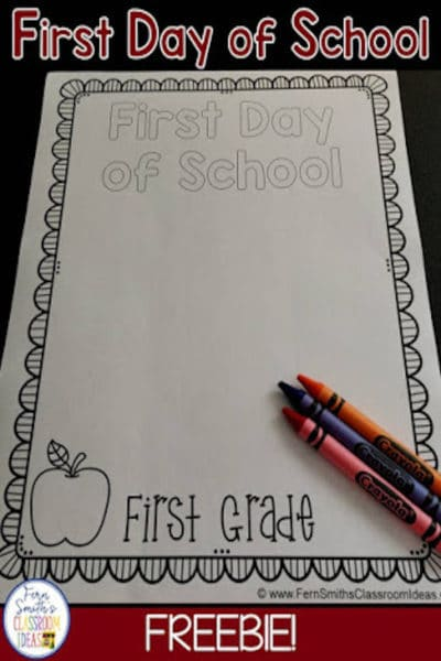 Back to School and Last Day of School Keepsake
