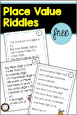 Place Value Riddles for Hundreds and Thousands