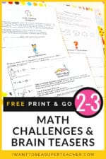 Free Math Challenges & Brain Teasers 2-3