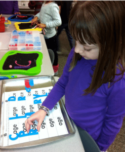 make new words with word families with magnets