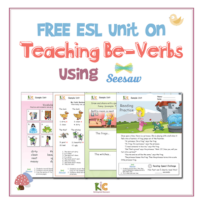 ESL Be-Verbs and Seesaw Teaching Pack Ad (small)