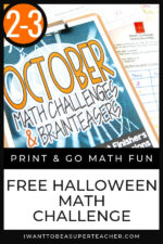 FREE Halloween Math Activity 2-3