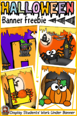 HALLOWEEN THEMED CLASSROOM ACTIVITY DISPLAY BANNER – FREE