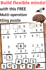 Make Your Students' Brains More Flexible with this Mixed Practice Addition and Subtraction Tiling Puzzle