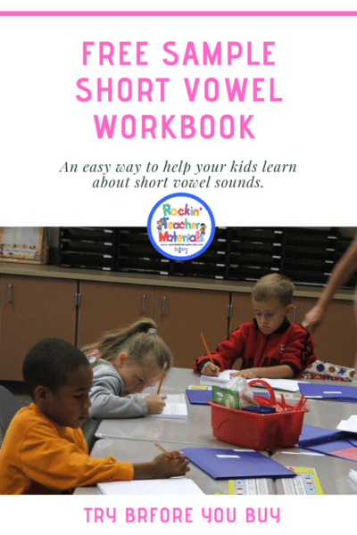 short vowel workbook