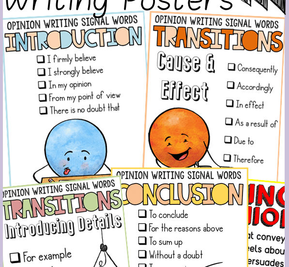 opinion/persuasive writing transition words