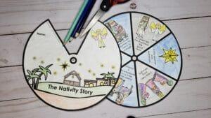 nativity wheel craft