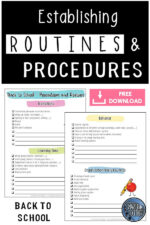 How to Establish Classroom Routines and Procedures