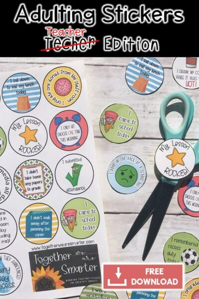 Teacher Sticker Rewards