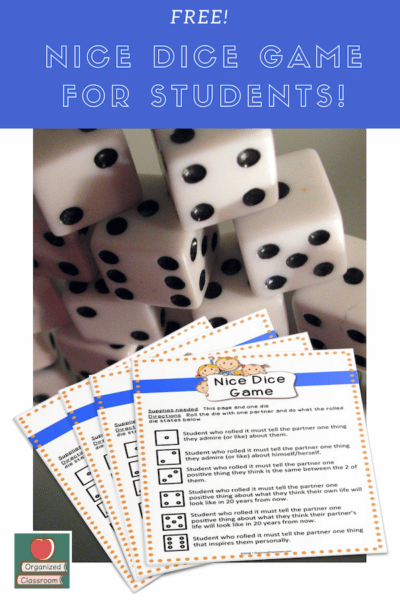 Building Character Dice Game
