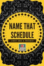 Classroom Schedule Printable Poster