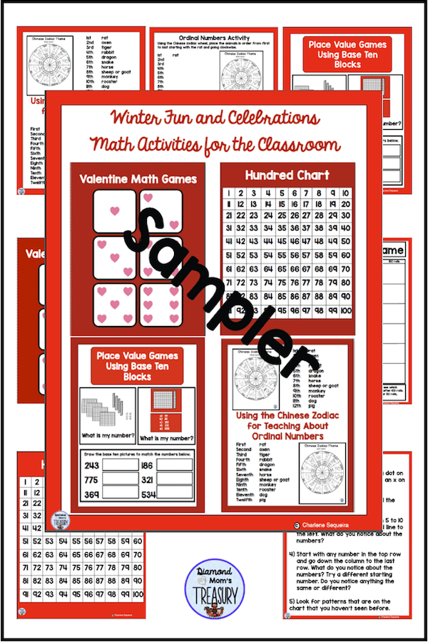 This is a free sampler of winter games and activities for Math. #wintergames #mathactivities #freemathgames