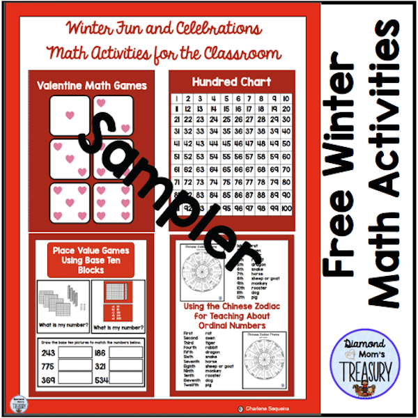 This is a set of free activities of winter games and activities for Math. #wintergames #mathactivities #freemathgames
